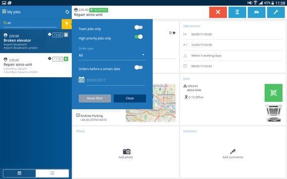 Planon AppSuite capture d'écran 9