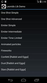 Leonids Lib Demo screenshot 2