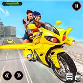 Real Flying Bike Taxi Simulator: Bike Driving Game ícone