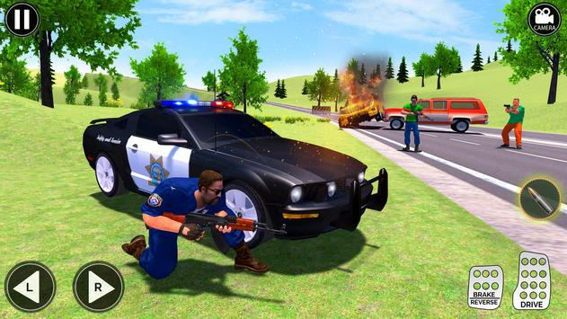 Grand Police Prado Jeep Car Gangster Chase screenshot 3