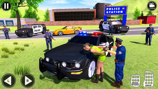 Grand Police Prado Jeep Car Gangster Chase screenshot 5