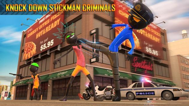 Police Stickman Moto Bike Gangster Chase screenshot 11