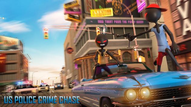 Police Stickman Moto Bike Gangster Chase screenshot 8