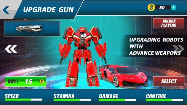 Grand Robot Car Transform War : Police Robot Games screenshot 10