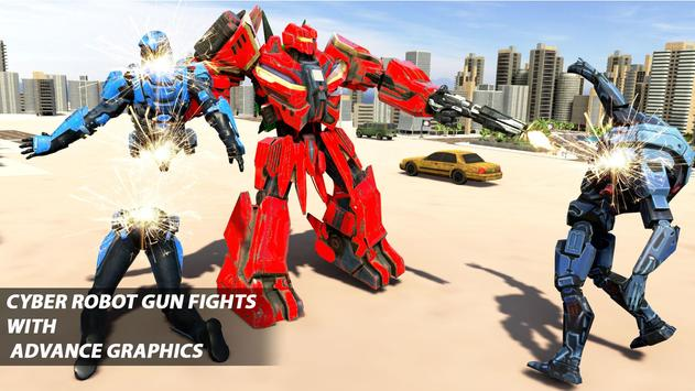 Grand Robot Car Transform War : Police Robot Games screenshot 9
