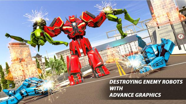 Grand Robot Car Transform War : Police Robot Games screenshot 13