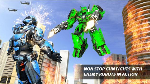 Grand Robot Car Transform War : Police Robot Games screenshot 14