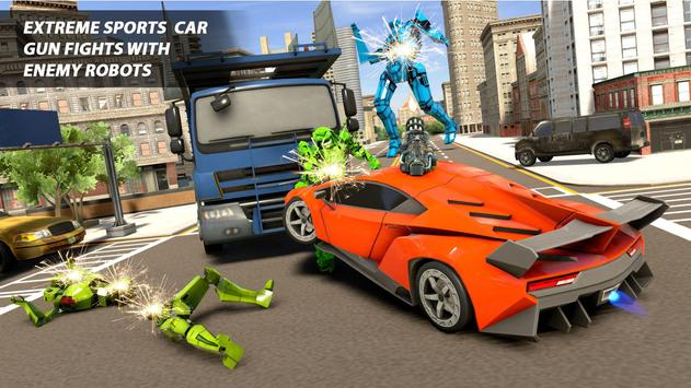 Grand Robot Car Transform War : Police Robot Games screenshot 16