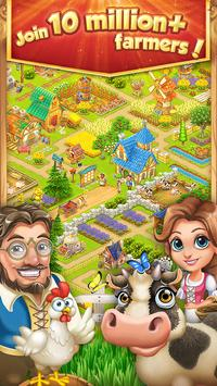 Village and Farm Poster