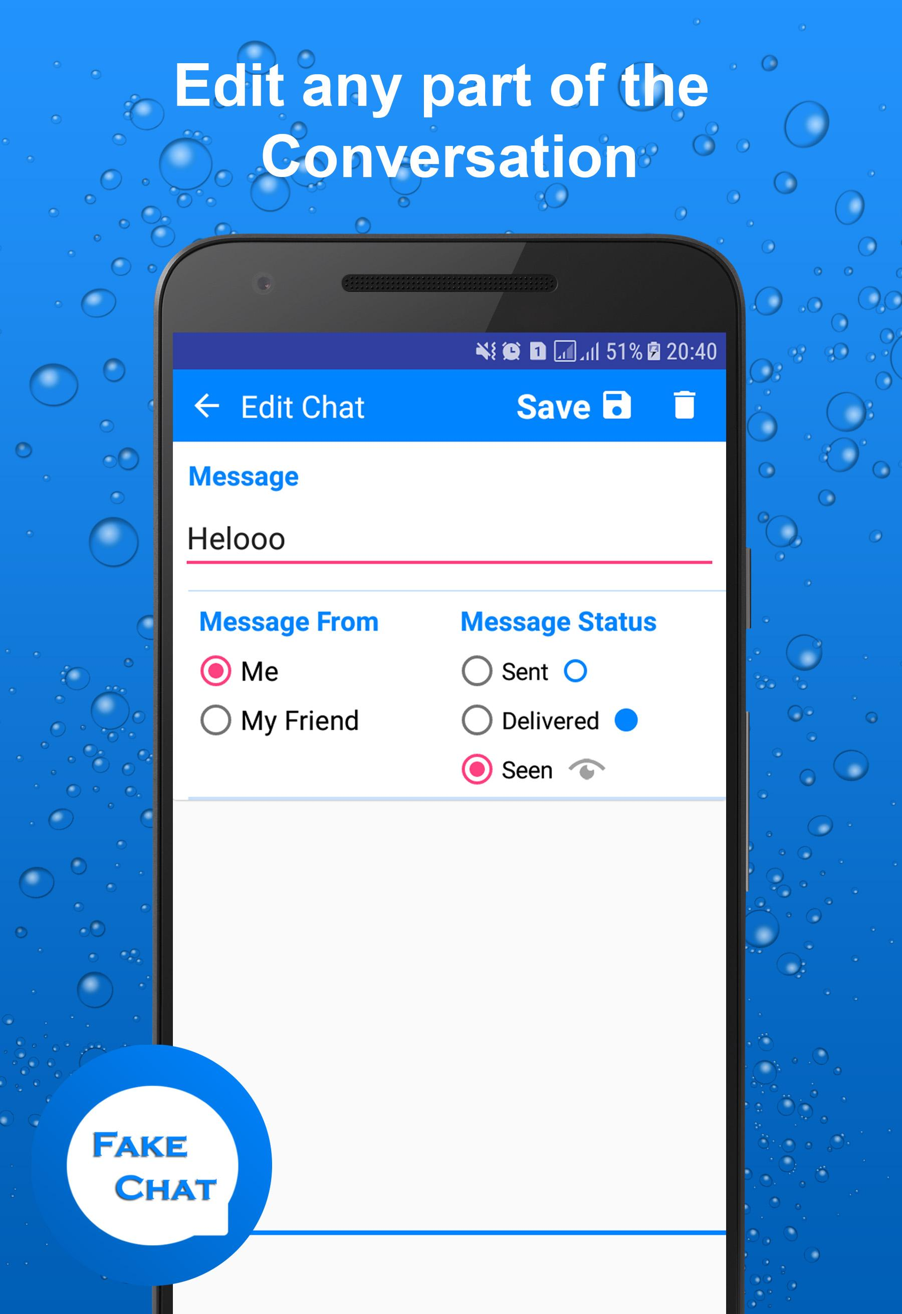 Fakenger - Fake chat messages Prank chat APK 1.6.1