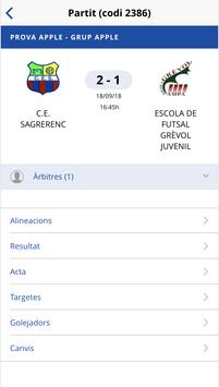 Federació Catalana Futbol Sala screenshot 3