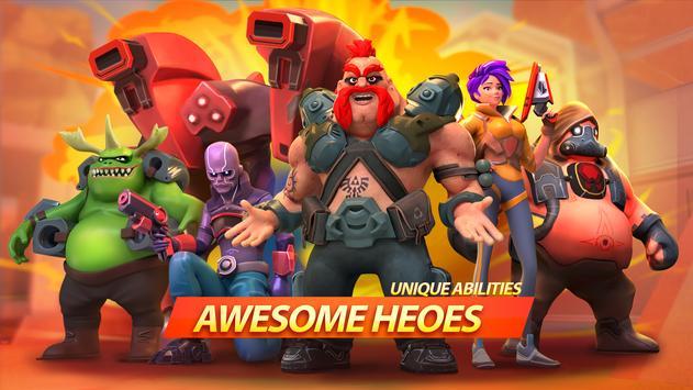 جنون الأبطال - Battle Royale Hero Shooter الملصق
