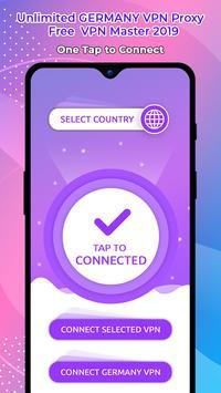 Unlimited GERMANY VPN Proxy :Free  VPN Master 2019 screenshot 3