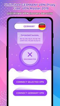 Unlimited GERMANY VPN Proxy :Free  VPN Master 2019 poster