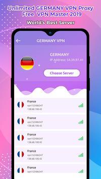 Unlimited GERMANY VPN Proxy :Free  VPN Master 2019 screenshot 2