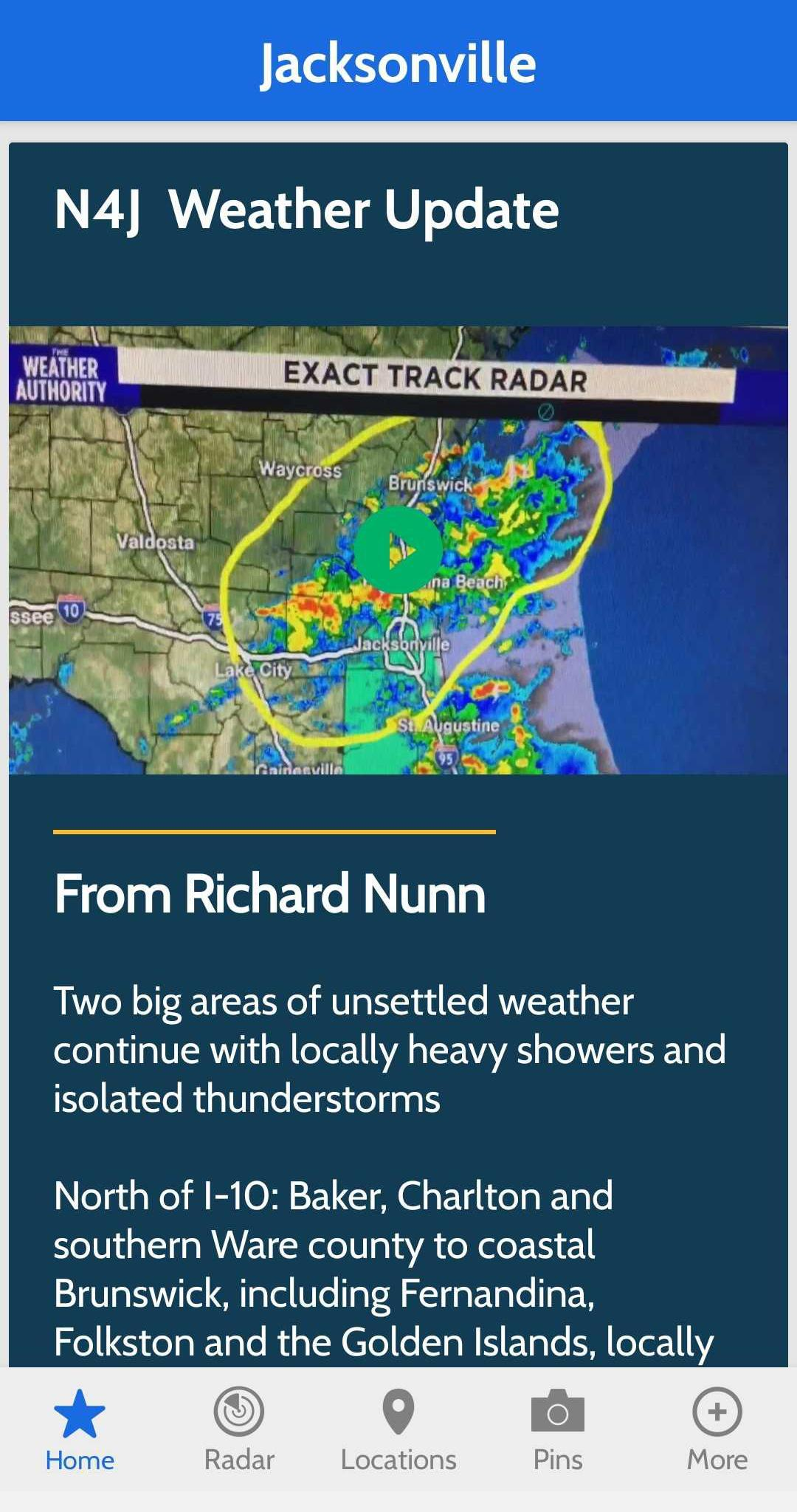 Wjxt The Weather Authority For