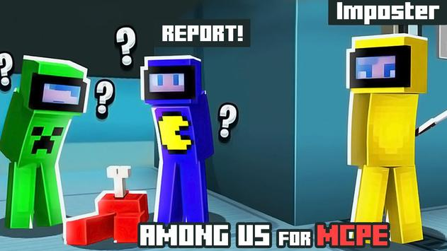Maps of Among Us for Minecraft PE poster