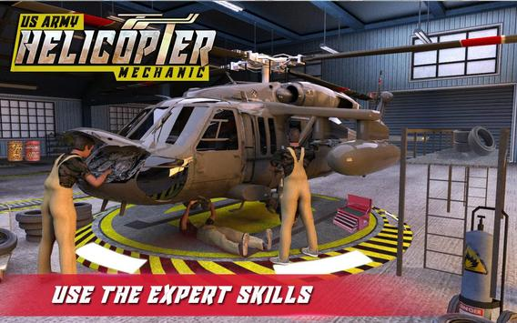 US Army Helicopter Mechanic poster