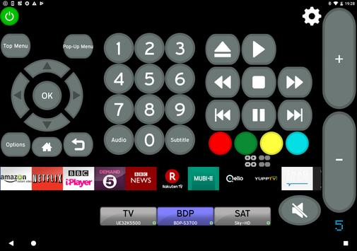 Sony Blu-Ray Player & TV Remote - Unofficial screenshot 3