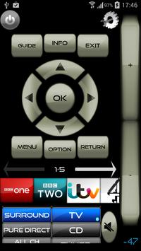 Sony Blu-Ray Player & TV Remote - Unofficial screenshot 1