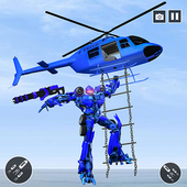 Police Helicopter Robot Transformation icon