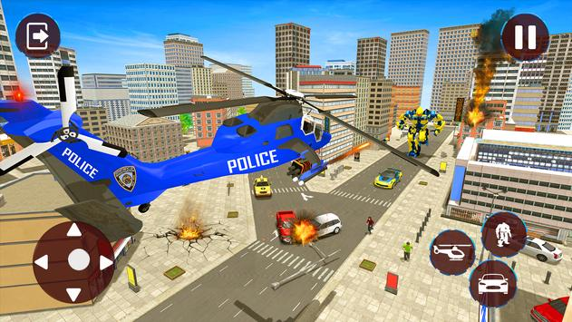 Police Helicopter Robot Transformation screenshot 3