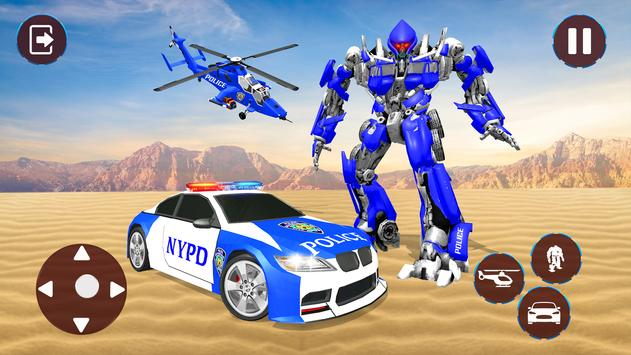 Police Helicopter Robot Transformation screenshot 7