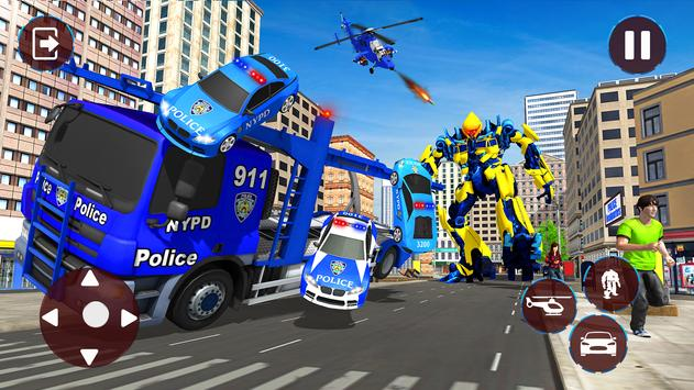 Police Helicopter Robot Transformation screenshot 12