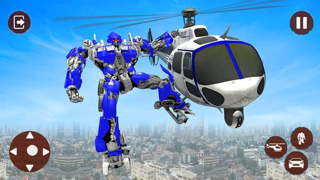 Police Helicopter Robot Transformation screenshot 1