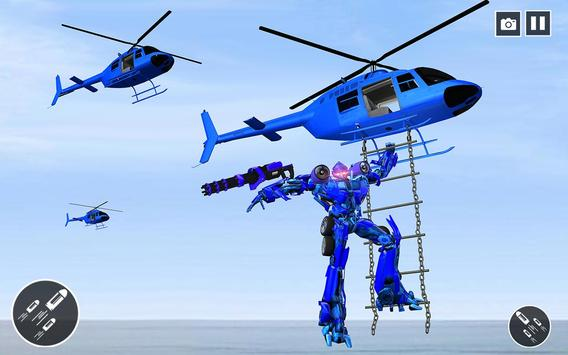 Police Helicopter Robot Transformation poster