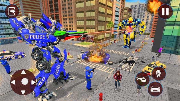 Police Helicopter Robot Transformation screenshot 2