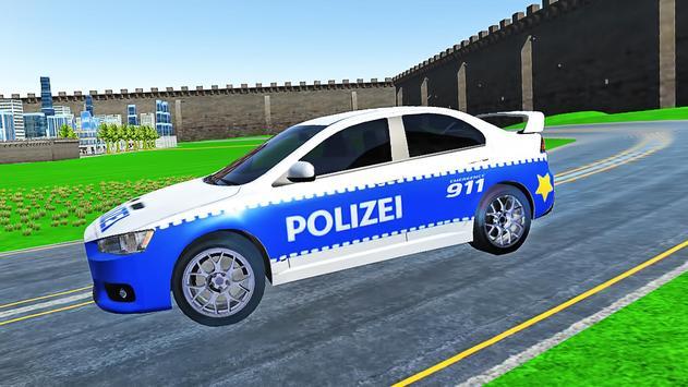 City Police Car Lancer Evo Driving Simulator screenshot 2