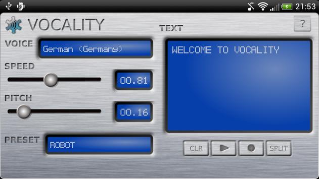 Vocality Text To Speech screenshot 2