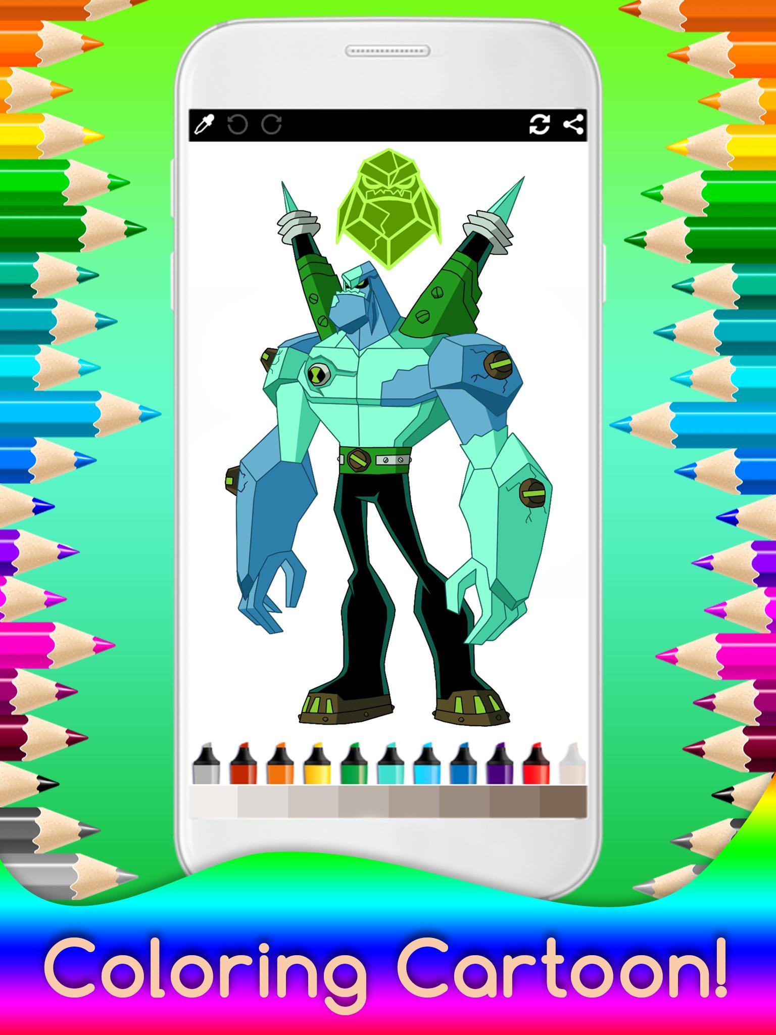 раскраска Ben Ten для детей для андроид скачать Apk