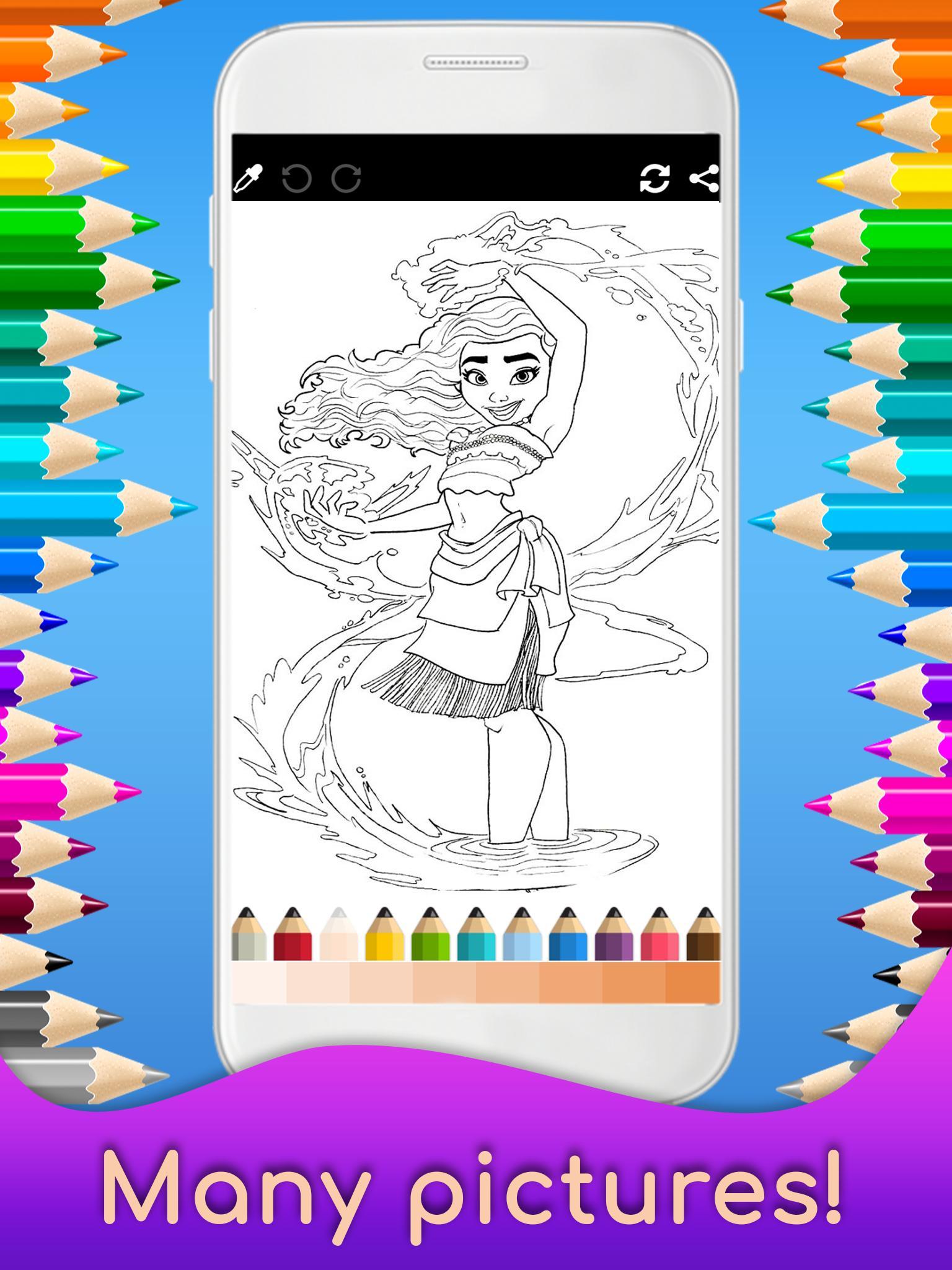 Mewarnai Moana Untuk Anak Anak For Android APK Download