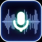 ikon Pengubah suara, perekam suara, penyetelan otomatis