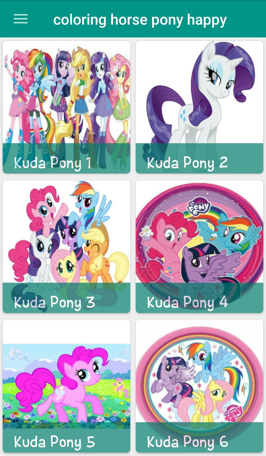 Mewarnai Kuda Pony Kesukaan For Android Apk Download