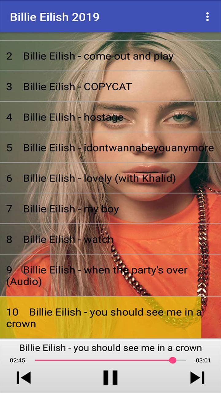 Billie Eilish Songs 2019 For Android Apk Download