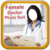 Female Doctor Photo Suit New icon