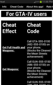 gta 4 cheets