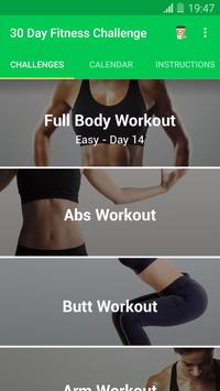 30 Day Fitness Challenge poster