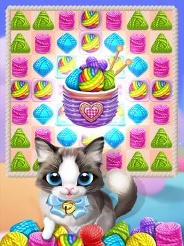 Meow Knitting Match screenshot 3