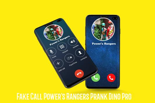 Рейнджеры Fake Call Power, шутки Dino Pro, скриншот 4
