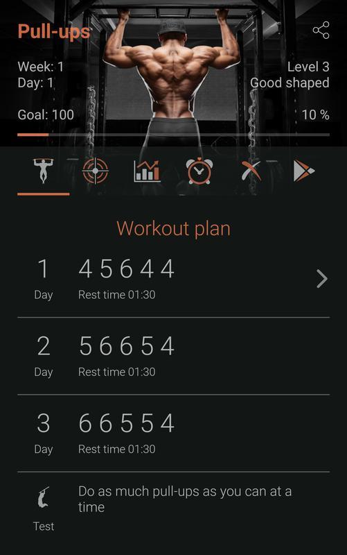 100 pull ups ultimate workout para android apk baixar