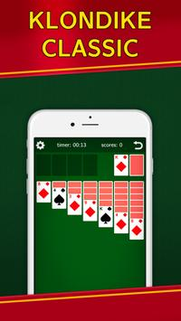 Classic Solitaire Klondike - No Ads! Totally Free! poster