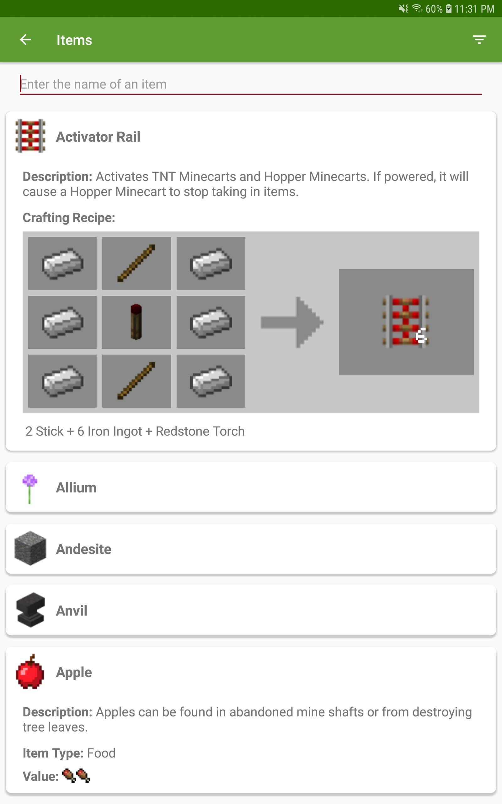 Crafting Table Minecraft Guide for Android - APK Download