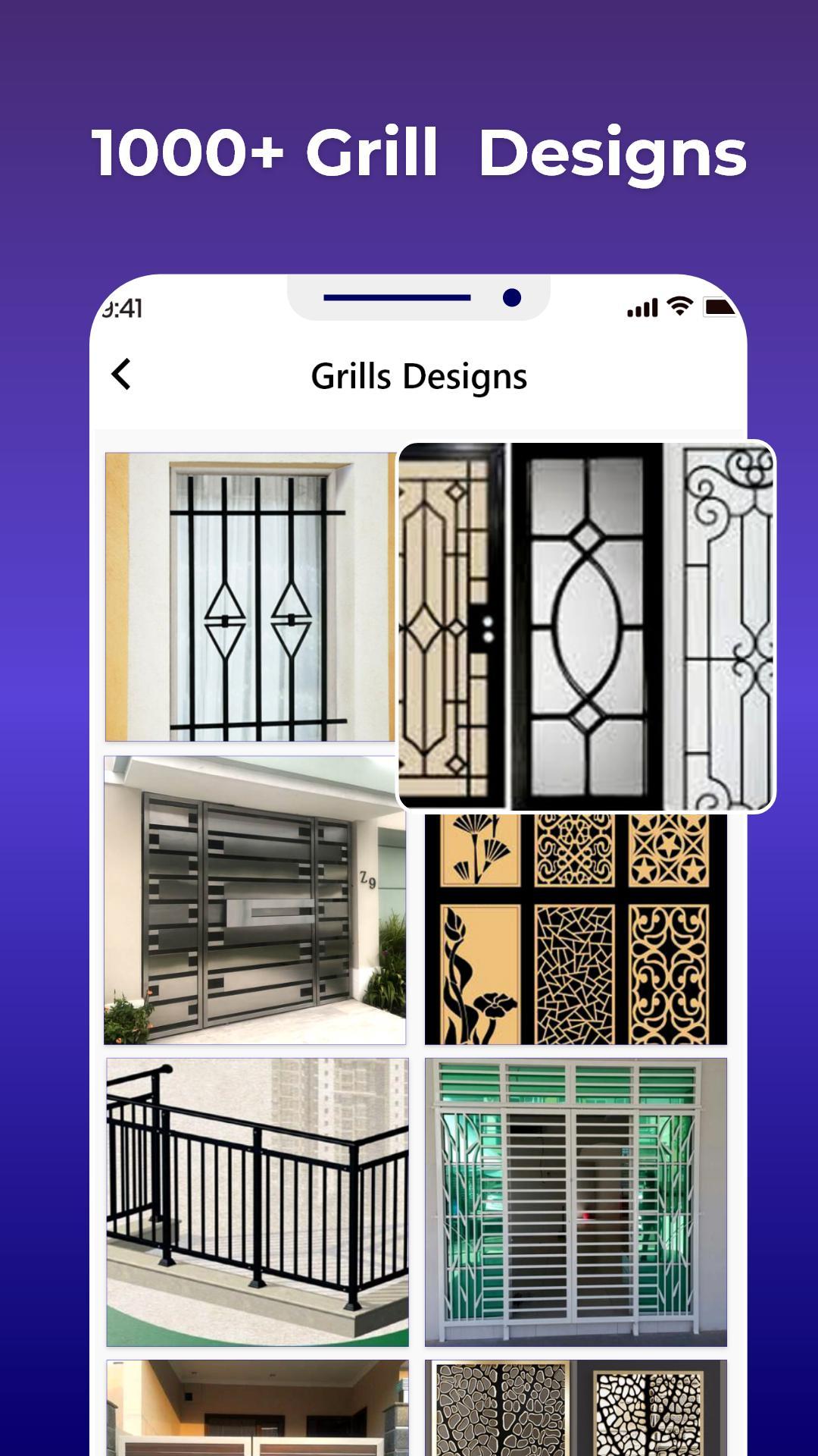Home Grill Trellis Window Designs Metal Door Ideas for Android