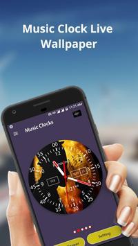 Music Clock Live Wallpaper & Widget screenshot 1