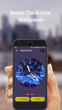 Music Clock Live Wallpaper & Widget screenshot 2
