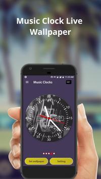 Music Clock Live Wallpaper & Widget screenshot 3